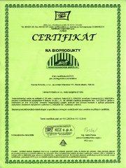 Certifikát Ekologického zemědělství